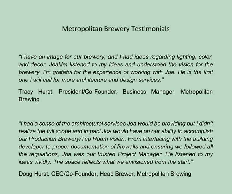 Metropolitan Brewing Brewery and Taproom
